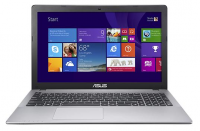 "Asus - 15.6"" Touch-Screen Laptop - Intel Pentium - 4GB Memory - 500GB Hard Drive - Gray"